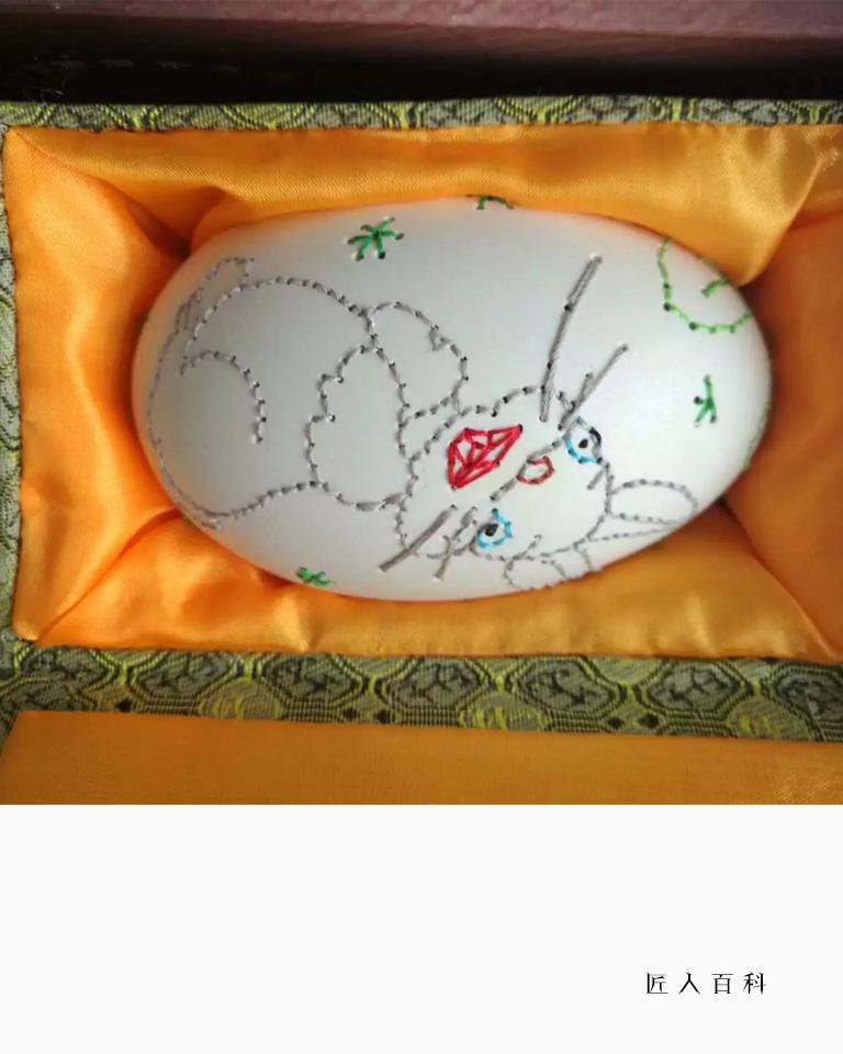 张晓萍的作品-张晓萍绣蛋雕刻师