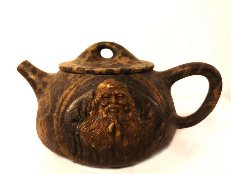 庄惠东的作品-庄惠东石雕作品《老子的壶》