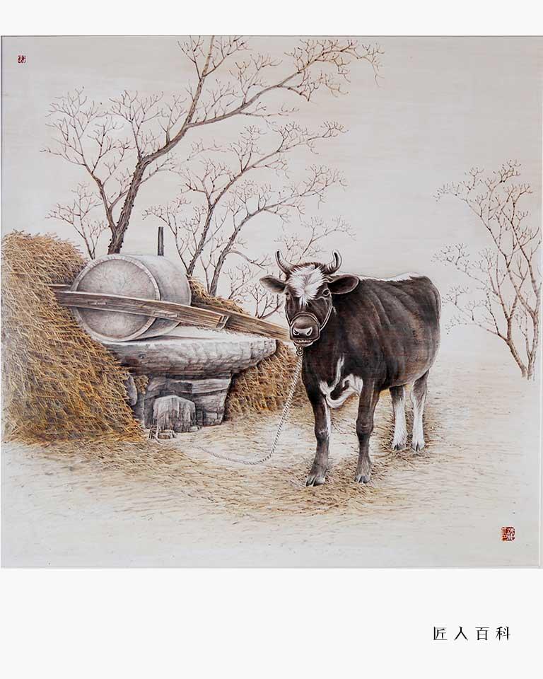 陈海根的作品-陈海根烙画
