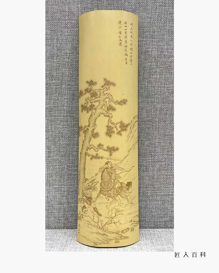 张孟的作品-张孟竹雕